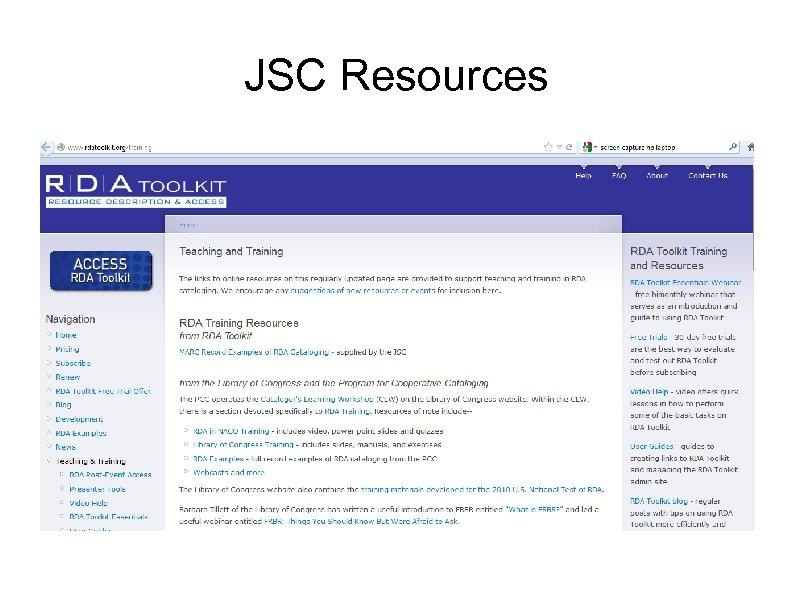 JSC Resources