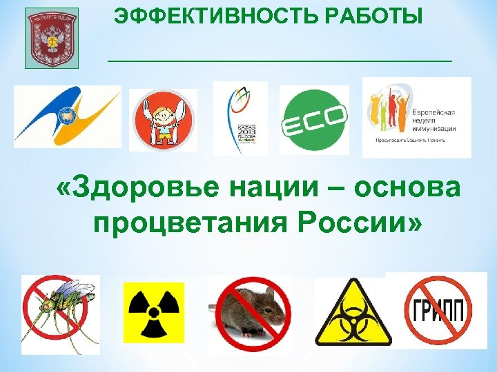 ЭФФЕКТИВНОСТЬ РАБОТЫ «Здоровье нации – основа процветания России»