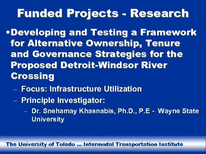Funded Projects - Research • Developing and Testing a Framework for Alternative Ownership, Tenure