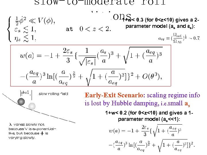 slow-to-moderate roll conditions 0. 3 (for 0<z<10) gives a 21+w< parameter model (as and