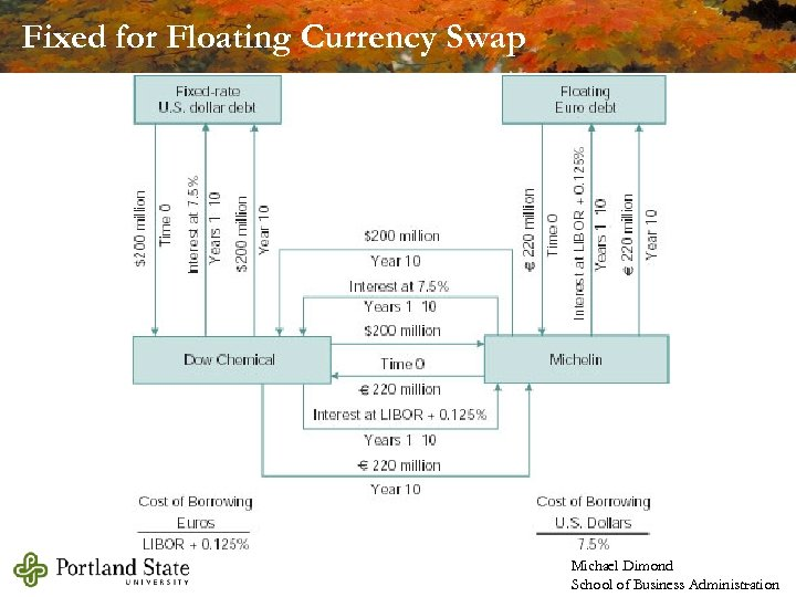 Fixed for Floating Currency Swap Michael Dimond School of Business Administration