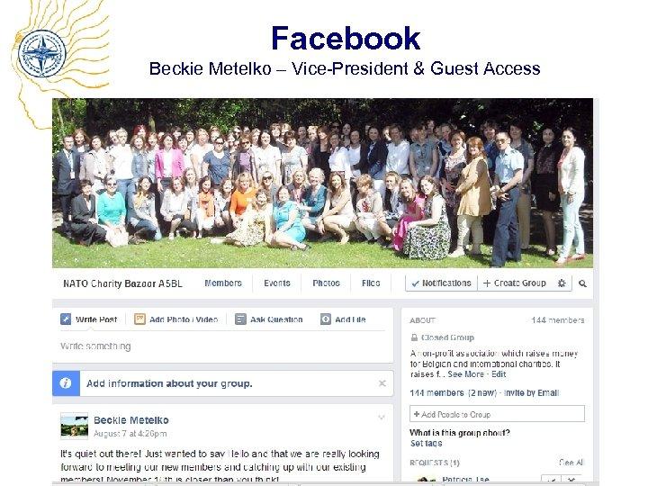 Facebook Beckie Metelko – Vice-President & Guest Access