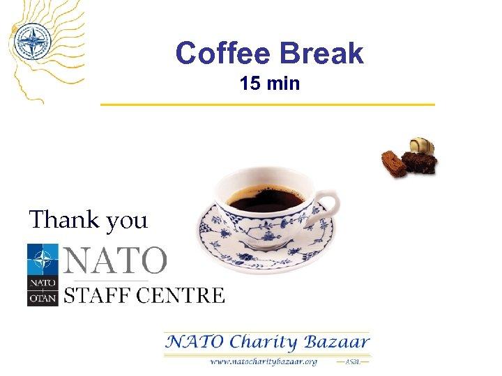 Coffee Break 15 min Thank you