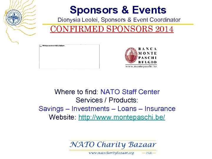Sponsors & Events Dionysia Leolei, Sponsors & Event Coordinator CONFIRMED SPONSORS 2014 Where to