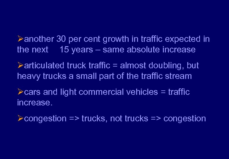 Øanother 30 per cent growth in traffic expected in the next 15 years –