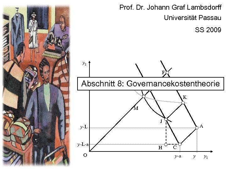 Prof. Dr. Johann Graf Lambsdorff Universität Passau SS 2009 y 2 F Abschnitt 8: