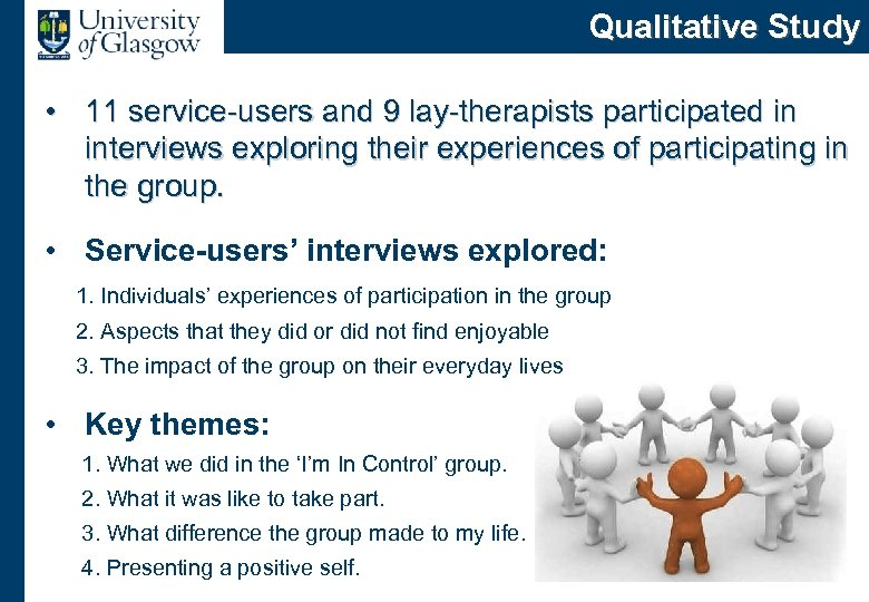 Qualitative Study • 11 service-users and 9 lay-therapists participated in interviews exploring their experiences