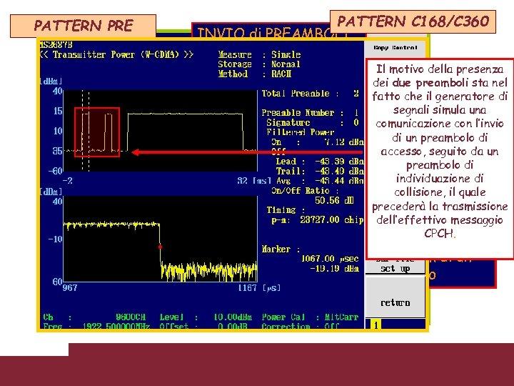 PATTERN PRE PATTERN C 168/C 360 INVIO di PREAMBOLI Il motivo della presenza dei