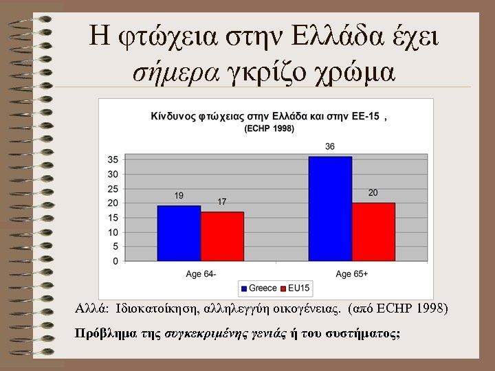 Η φτώχεια στην Ελλάδα έχει σήμερα γκρίζο χρώμα Αλλά: Ιδιοκατοίκηση, αλληλεγγύη οικογένειας. (από ΕCHP
