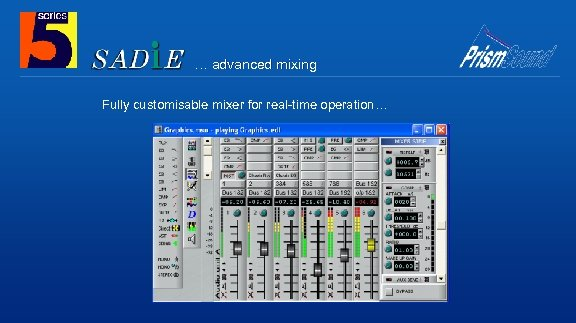 … advanced mixing Fully customisable mixer for real-time operation…