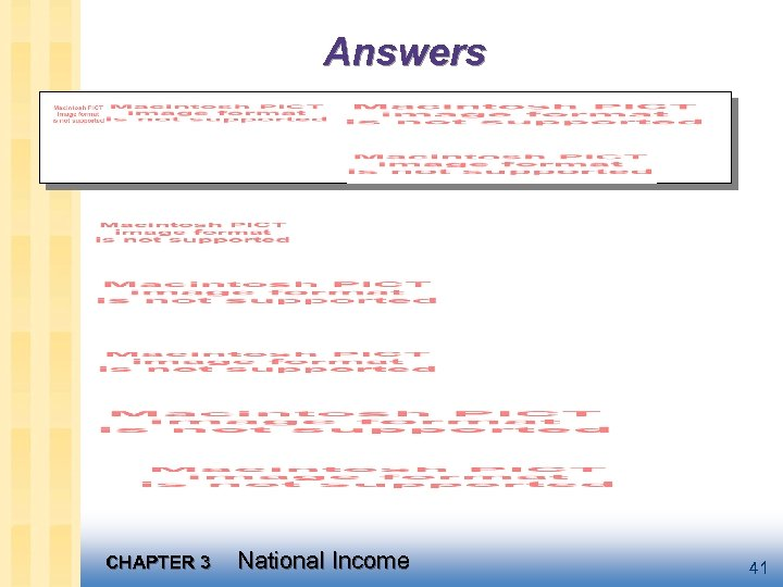 Answers CHAPTER 3 National Income 41
