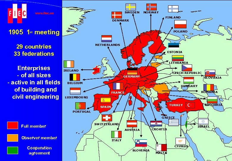 SWEDEN www. fiec. eu NORWAY FINLAND DENMARK 1905 1 st meeting POLAND NETHERLANDS 29