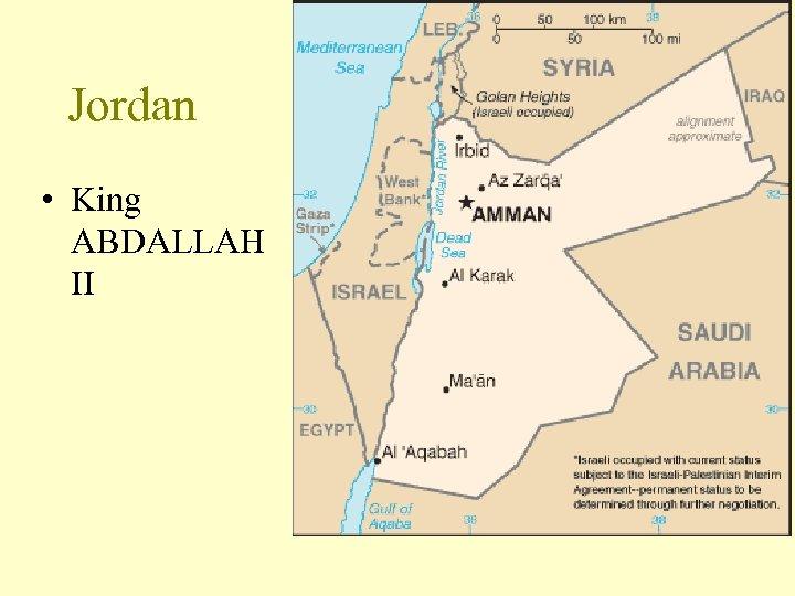 Jordan • King ABDALLAH II