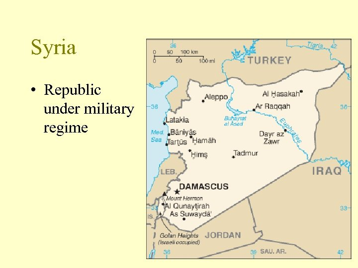 Syria • Republic under military regime