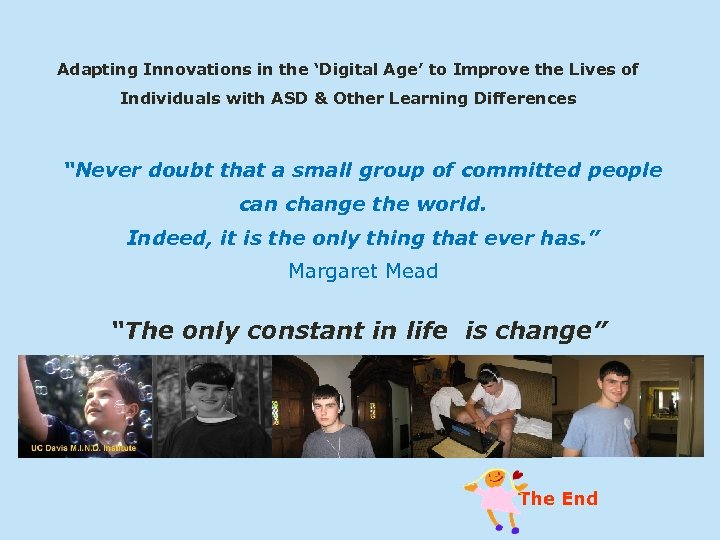 Adapting Innovations in the 'Digital Age' to Improve the Lives of Individuals with ASD