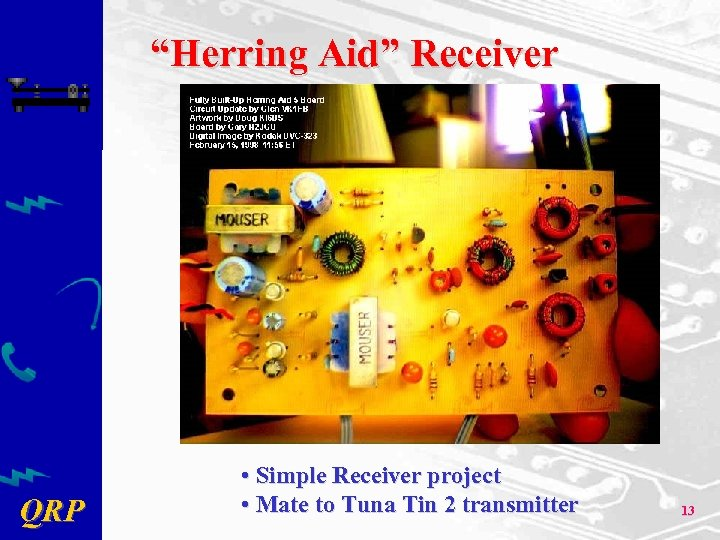 """Herring Aid"" Receiver QRP • Simple Receiver project • Mate to Tuna Tin 2"