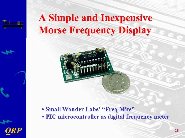 "A Simple and Inexpensive Morse Frequency Display • Small Wonder Labs' ""Freq Mite"" •"