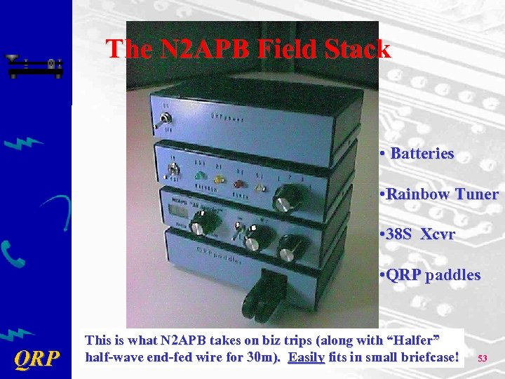 The N 2 APB Field Stack • Batteries • Rainbow Tuner • 38 S