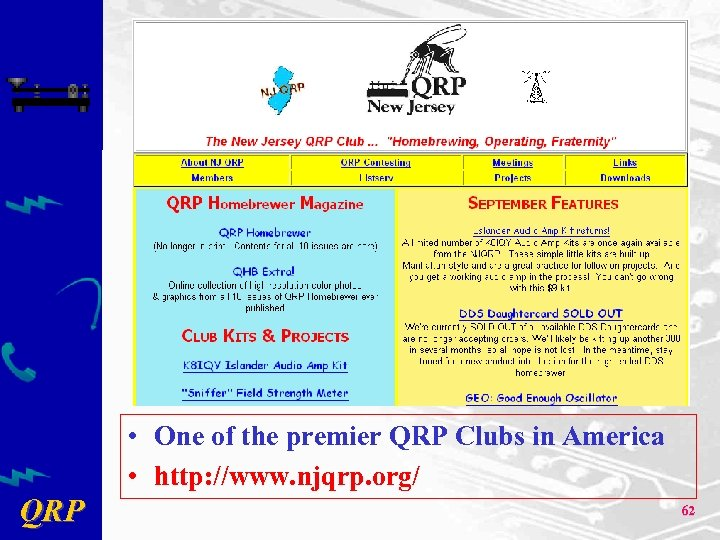 • One of the premier QRP Clubs in America • http: //www. njqrp.