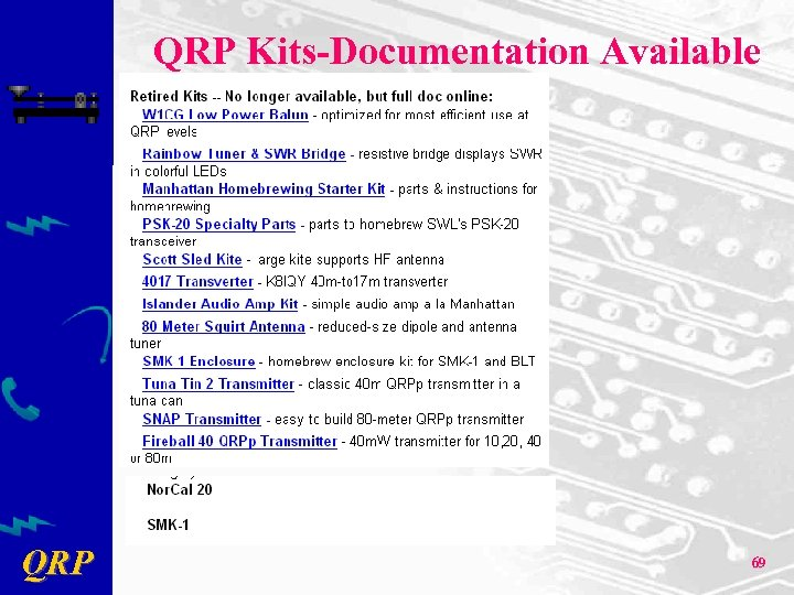 QRP Kits-Documentation Available QRP 69