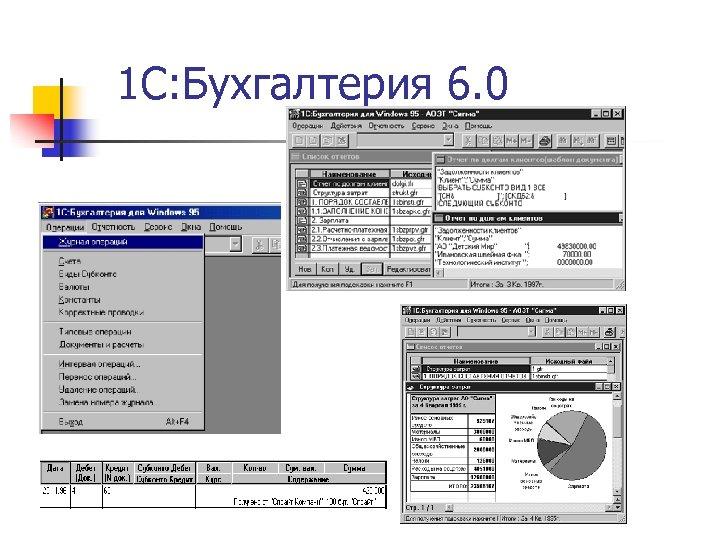 1 С: Бухгалтерия 6. 0