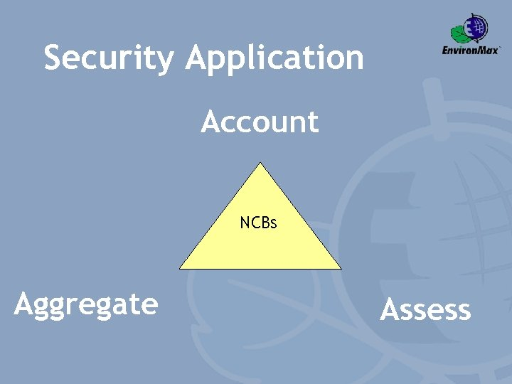 Security Application Account NCBs Aggregate Assess