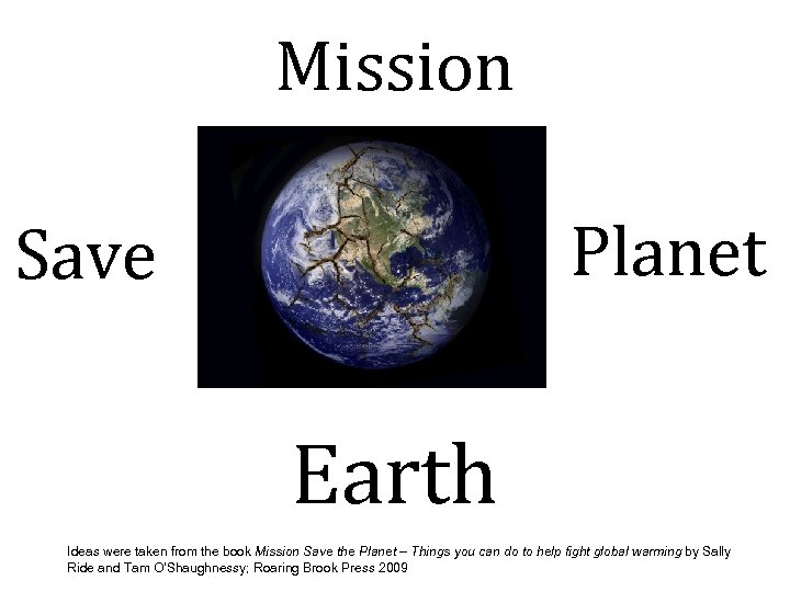 Mission Planet Save Earth Ideas were taken from the book Mission Save the Planet