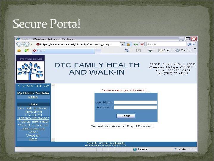 Secure Portal