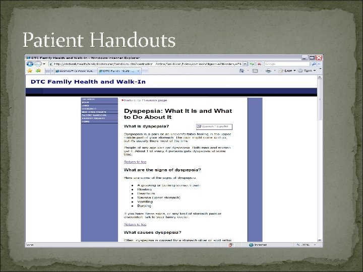 Patient Handouts