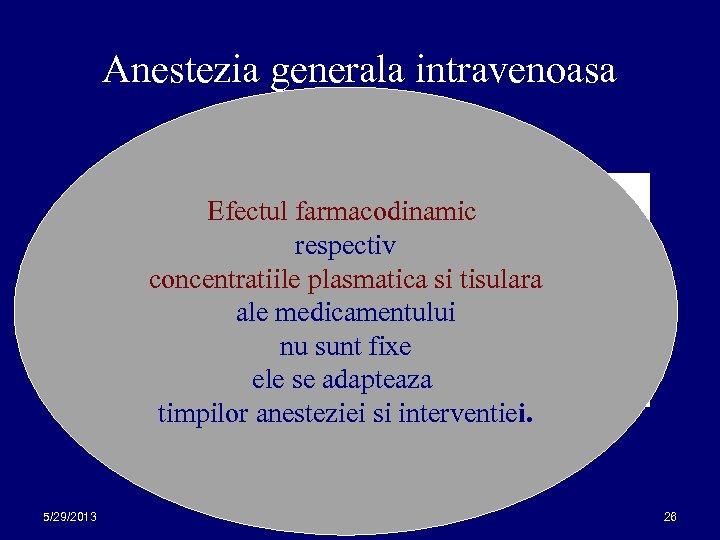Anestezia generala intravenoasa este urmarita Efectul farmacodinamic obtinerea respectiv unei concentratii tinta concentratiile plasmatica