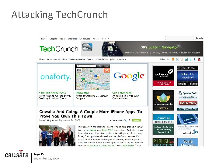 Attacking Tech. Crunch Page 30 September 25, 2009