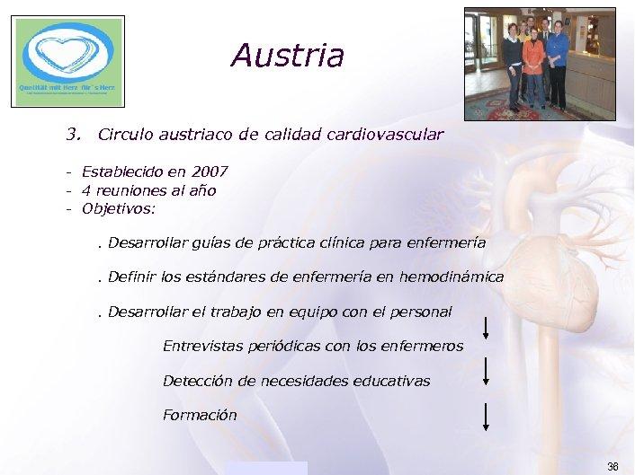 ACADEMIA Austria 3. Circulo austriaco de calidad cardiovascular - Establecido en 2007 - 4