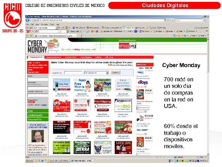 Ciudades Digitales Cyber Monday 700 mdd en un solo día de compras en la
