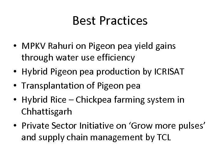 Best Practices • MPKV Rahuri on Pigeon pea yield gains through water use efficiency