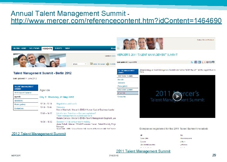 Annual Talent Management Summit - http: //www. mercer. com/referencecontent. htm? id. Content=1464690 2012 Talent