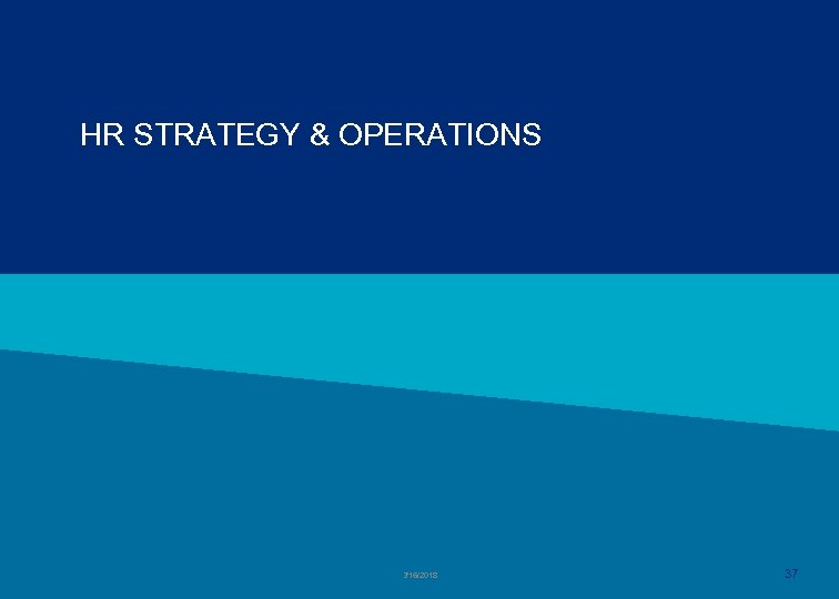 HR STRATEGY & OPERATIONS 3/16/2018 37