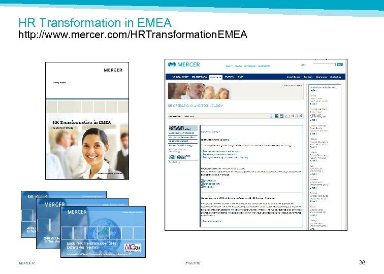 HR Transformation in EMEA http: //www. mercer. com/HRTransformation. EMEA MERCER 3/16/2018 38