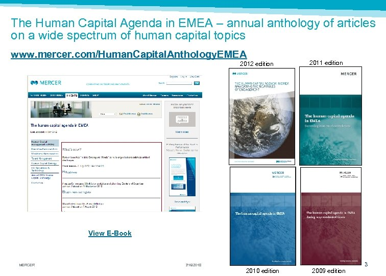 The Human Capital Agenda in EMEA – annual anthology of articles on a wide