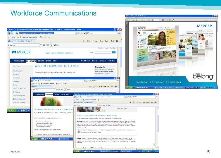 Workforce Communications MERCER 3/16/2018 40