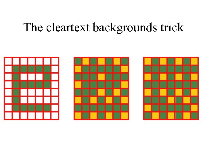 The cleartext backgrounds trick