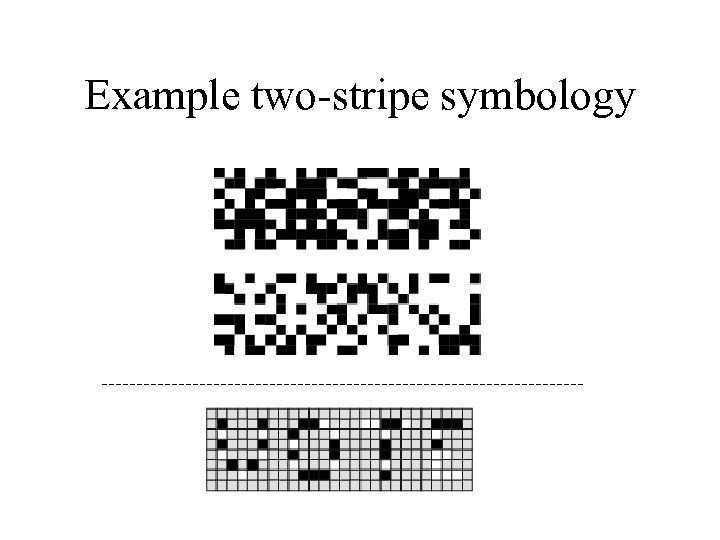 Example two-stripe symbology