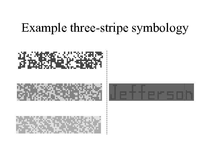 Example three-stripe symbology