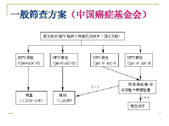 一般筛查方案(中国癌症基金会)