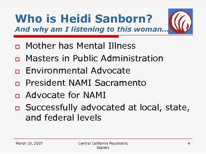 Who is Heidi Sanborn? And why am I listening to this woman… o o