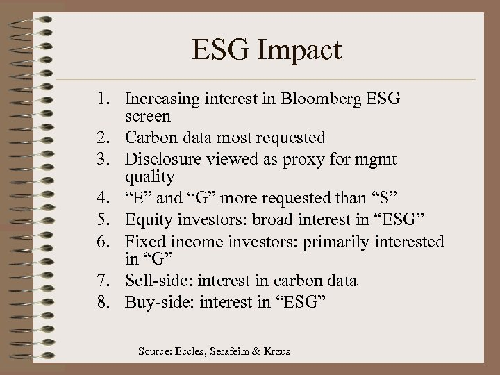ESG Impact 1. Increasing interest in Bloomberg ESG screen 2. Carbon data most requested