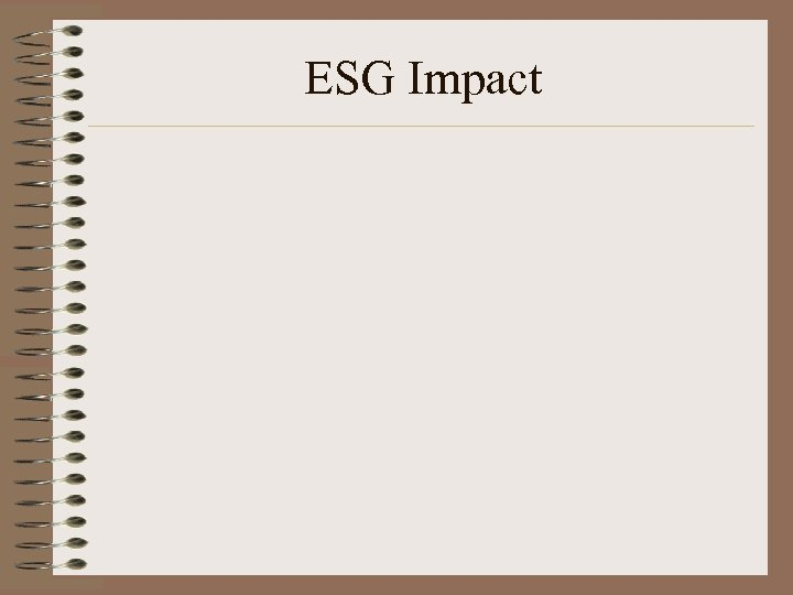 ESG Impact