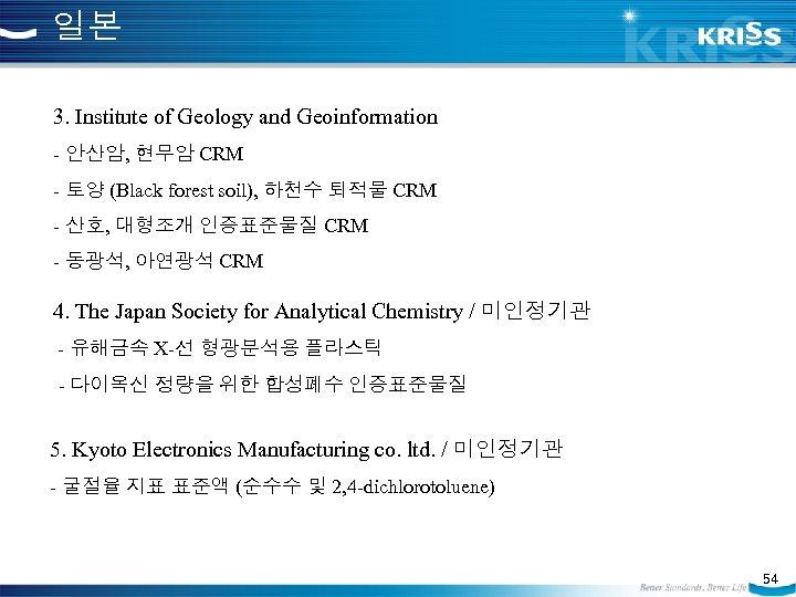 일본 3. Institute of Geology and Geoinformation - 안산암, 현무암 CRM - 토양 (Black