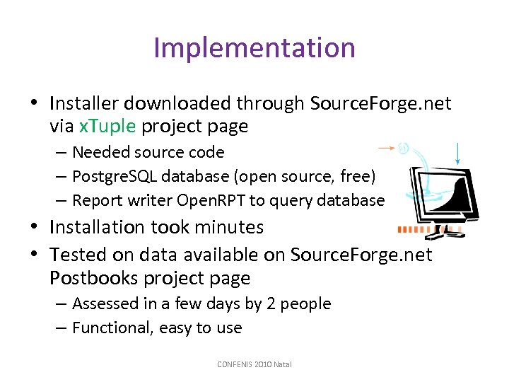 Implementation • Installer downloaded through Source. Forge. net via x. Tuple project page –
