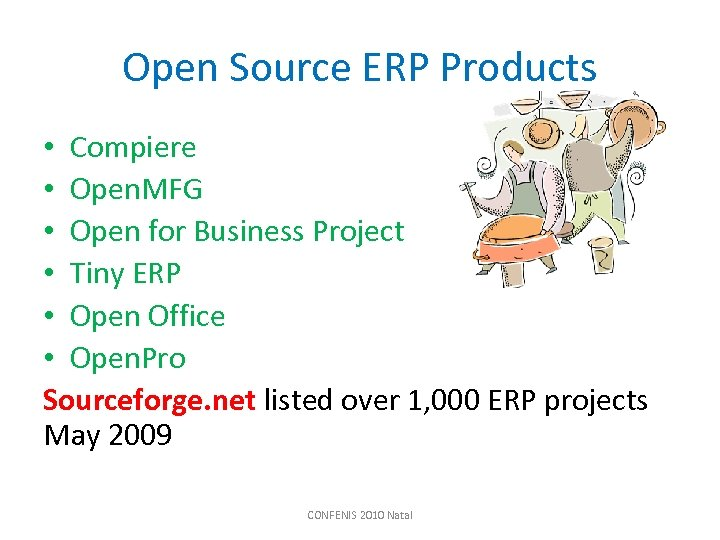 Open Source ERP Products • Compiere • Open. MFG • Open for Business Project