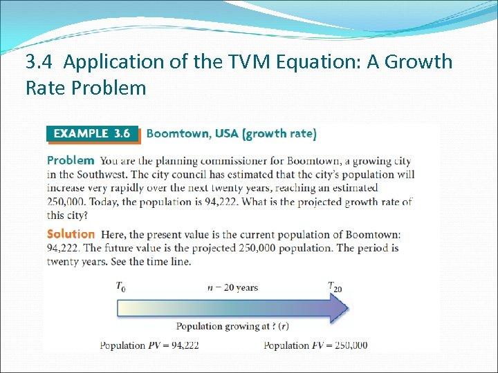 3. 4 Application of the TVM Equation: A Growth Rate Problem